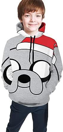 shenguang Jake Adventure Christmas Hat Time Sudadera con Estampado 3D Sudaderas con Capucha Sudaderas con Capucha Sudaderas para niños Adolescentes Niños Niñas