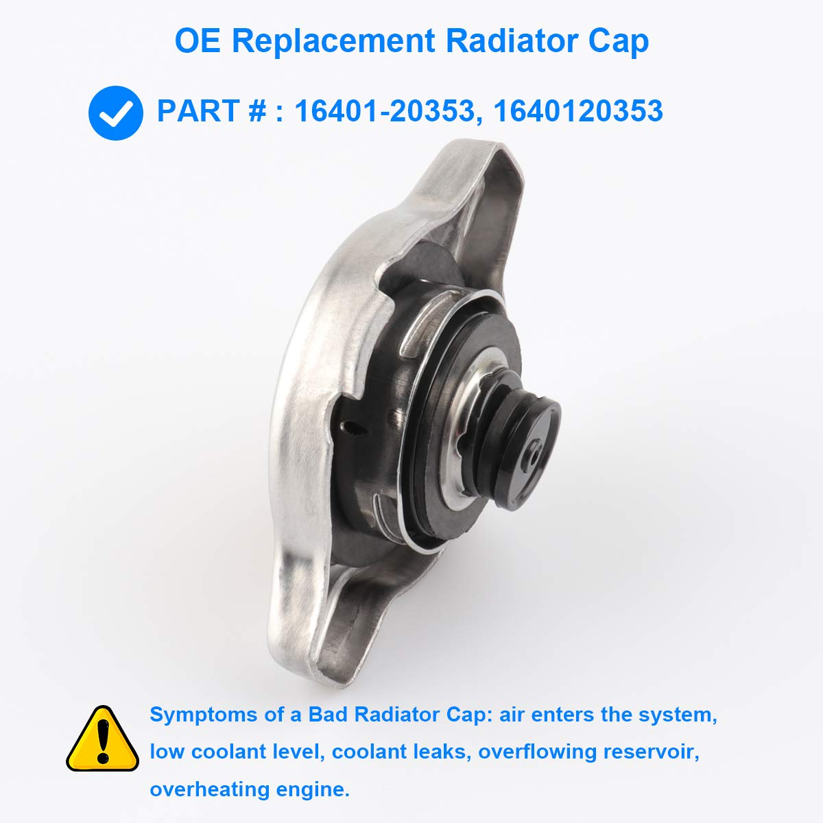 Bad Radiator Cap Symptoms >> Radiator Cap Sub Assembly Replace 16401 20353 1640120353 For 1996 2000 Toyota 4runner 1989 2001 Toyota Camry 1993 2016 Toyota Corolla 2000 2006
