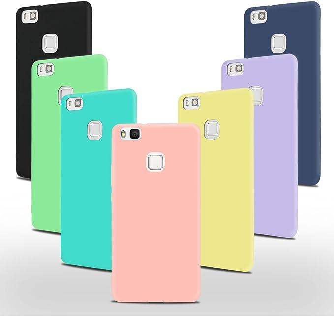 7 x Coque Huawei P9 Lite Silicone, SpiritSun Etui Coque TPU Slim Bumper Souple Housse de Protection Flexible Case Couverture Mince Légère Silicone ...