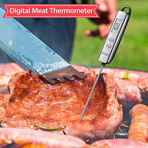 Large Product Image of Meat Thermometer, Habor Instant Read Thermometer Cooking Thermometer Candy Thermometer with Super Long Probe for Kitchen Cooking BBQ Grill Smoker Meat Fry Food Milk Yogurt