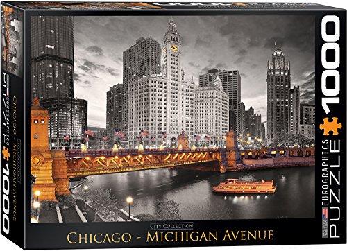 EuroGraphics Chicago Michigan Avenue Puzzle - Michigan 14 Mile
