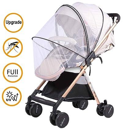 Moskitonetz Kinderwagen Universal Insektenschutz mit Sonnenschutz Muckennetz...