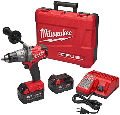 Milwaukee M18 FUEL 18-Volt Lithium-Ion Brushless 1 2 in. Hammer Drill Driver XC Kit Hardware Power Tools for Your Construction or Jobsite Needs