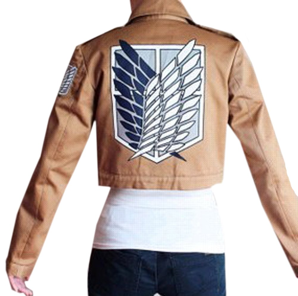 Buy-Box Women's Cos-me Attack on Titan Survey Corps Khaki Jacket Coat by Buy-Box (Image #2)