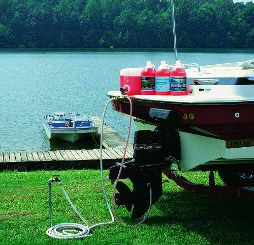 Diy prep boat winterizing marine engine antifreeze flusher for Boat garage kits