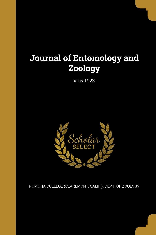 Download Journal of Entomology and Zoology; V.15 1923 pdf epub