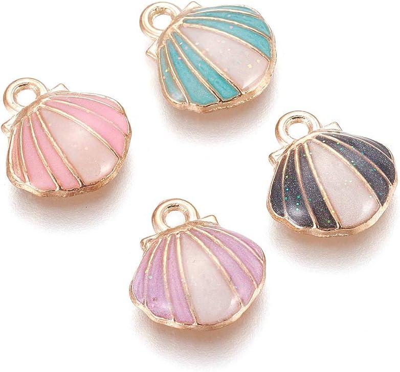 50 pcs Alloy Pendants Fashion DIY Seashell Jewelry Making Accessory for Bracelet