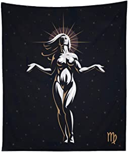 THE UNIVERSAL SIGNS Astrology Horoscope Zodiac Tapestry Decor Wall Hanging (Virgo) Blanket Bedspread Beach Towels Picnic Mat Home Decor