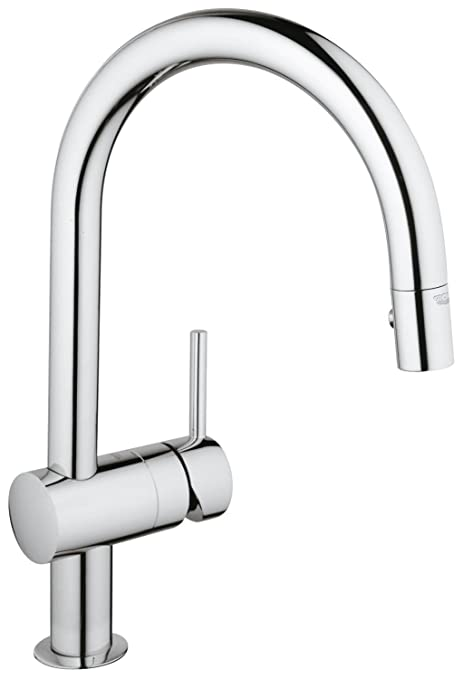 Grohe Minta Single Lever Kitchen Tap With Pull Out Shower Head High
