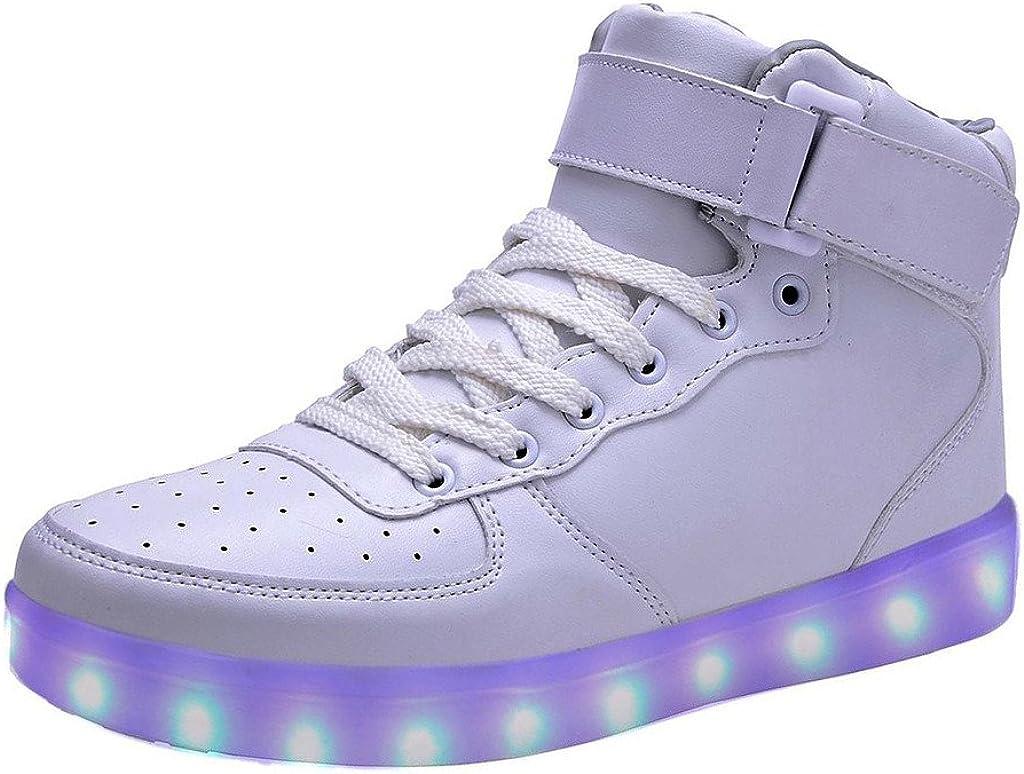 USB Rechargeable Chaussures 7 Couleurs DoGeek-Basket Lumineuse Chaussures Led Lumi/ère Basket Led Gar/çon Fille