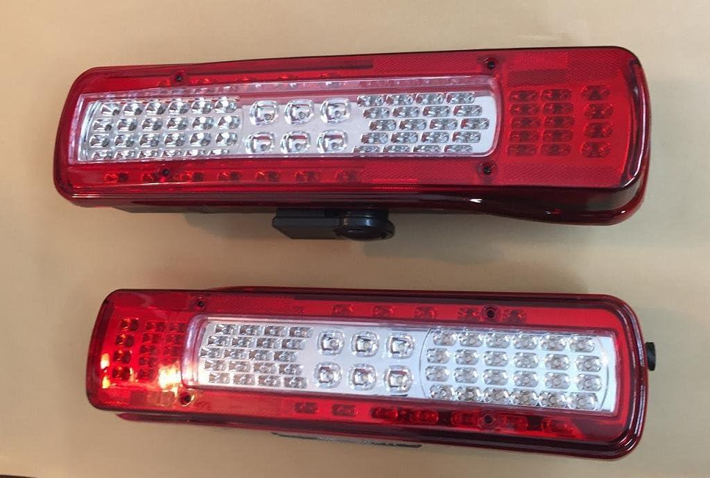 2x LED Cola luces traseraen la luz reverso Beeper izquierda + derecho luz número placa 500mm