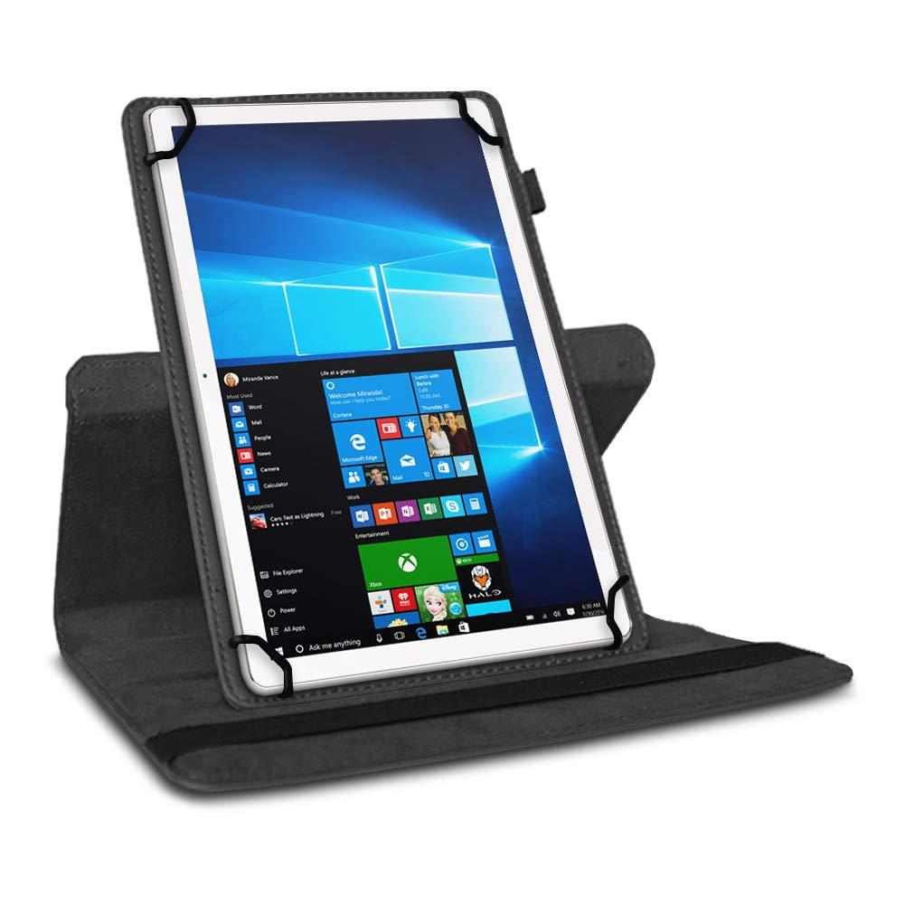 UC-Express Tablet Schutzh/ülle f/ür 10-10.1 Zoll Tasche aus hochwertigem Kunstleder Standfunktion 360/° Drehbar Universal Case Cover Farben:Schwarz Tablet Modell f/ür:Trekstor Volkstablet 2 10.1