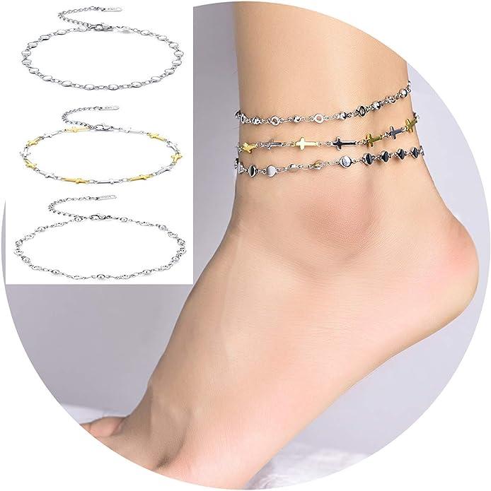 Ankle string Couple anklets Matching anklets Everyday anklet for him /& her Friendship anklet set Threaded anklet Woven anklet