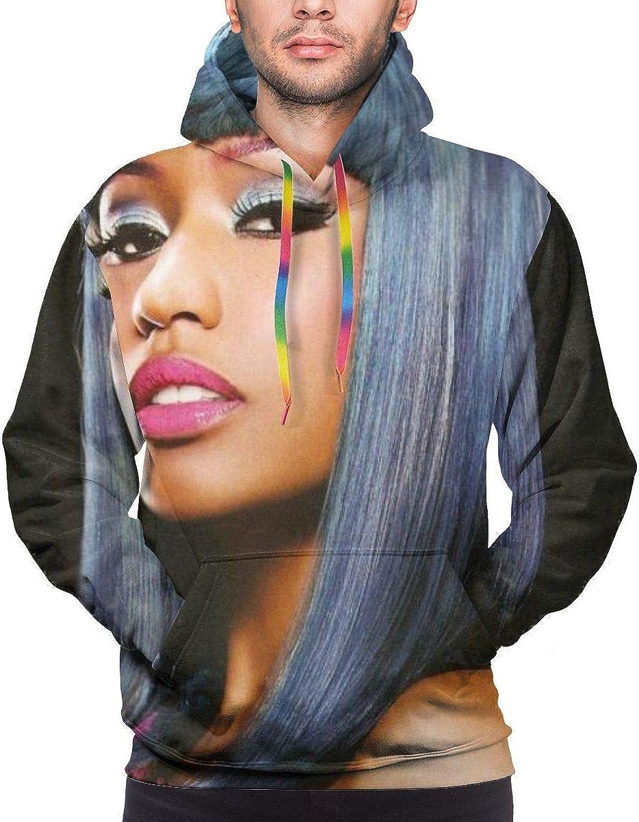 KennethDubreuil Nicki Minaj Mens Casual 3D Print Long Sleeve Hoodie Sweatshirt