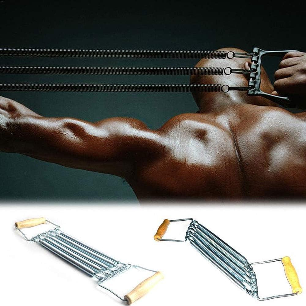 Tcare 1pcs espansore del Torace Regolabile 5 Attrezzi per Il Fitness Allenamento del Torace Elastico Molle Petto