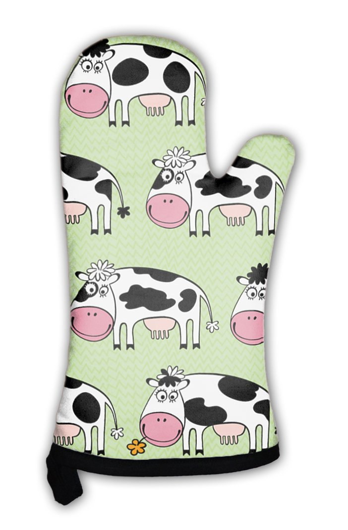 Gear New Oven Mitt, Cartoon Cows, GN8746