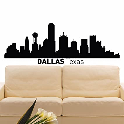 amazon com wall decal vinyl sticker dallas skyline city scape