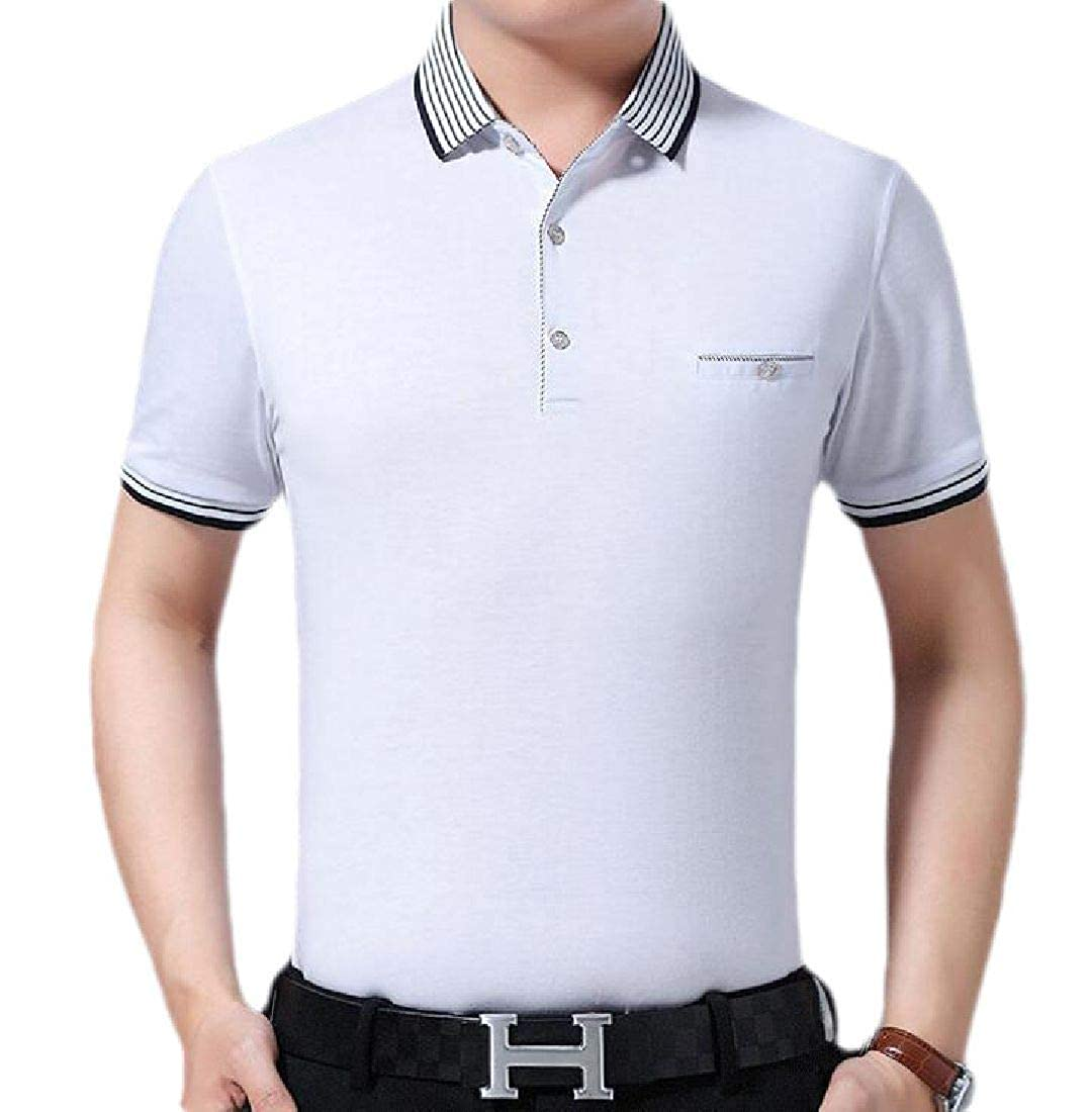 GRMO Men Comfort Fitted Business Short Sleeve Casual Summer Polo Shirt