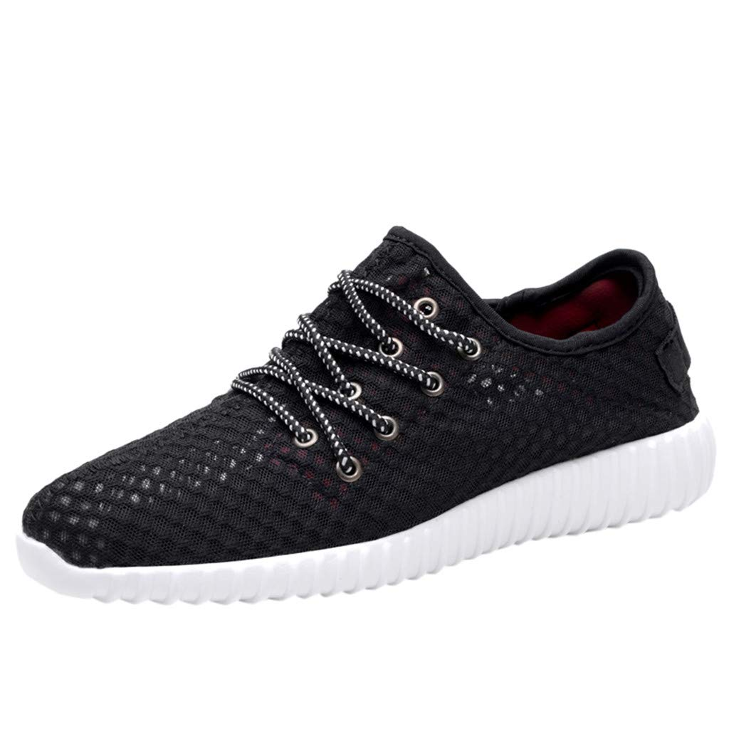 7fc692602e6f1 HCFKJ Shoes Men's Summer Outdoor Run Woven Shoes Mesh Breathable ...