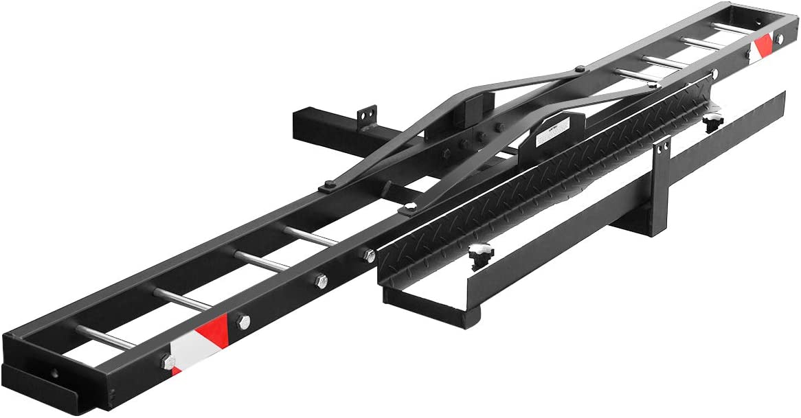 9. XtremepowerUS Motorcycle/Scooter/Dirtbike Hitch Mounted Carrier, Anti Tilt 500Lbs