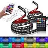 """MICTUNING 60"""" RGB Truck Bed Light Strip Wireless Remote LED Glow Neon Light [Sound Actived] for Pickup SUV RV (2pcs)"""