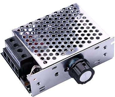 Yeeco Electrónico SCR Alto Voltaje Regulador de Voltaje Velocidad Gobernador Termostatos Regulador de Intensidad Motor Controlador AC 220V 10000W con El ...