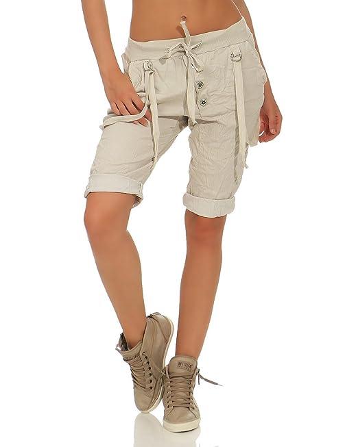 ZARMEXX Capri da donna Pantalone caldo Pantaloncini bermuda in cotone con  lacci beige Taglia unica (38-44)  Amazon.it  Abbigliamento 47506036c3f5