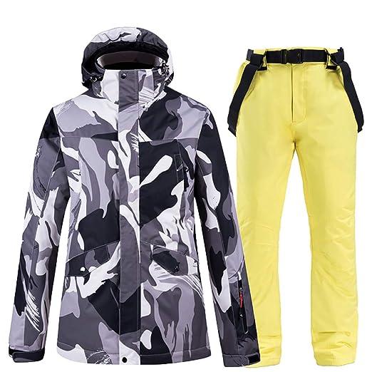SKI Trajes de esquí para Hombres Insulatd Chaquetas de ...