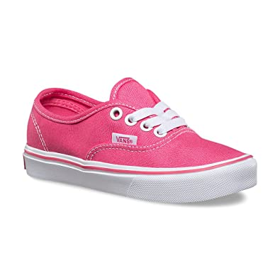 04e236cf7b Amazon.com | Vans Authentic Lite Hot Pink/White Girl's Sneakers ...