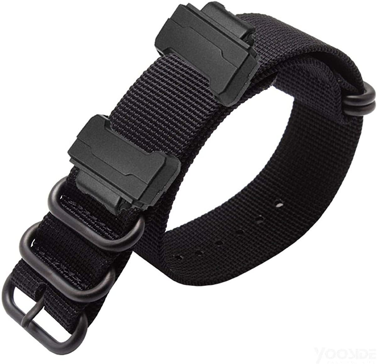 YOOSIDE NATO Nylon Buckle Watch Band for Casio G-SHOCK GW-DW5600(Black): Clothing