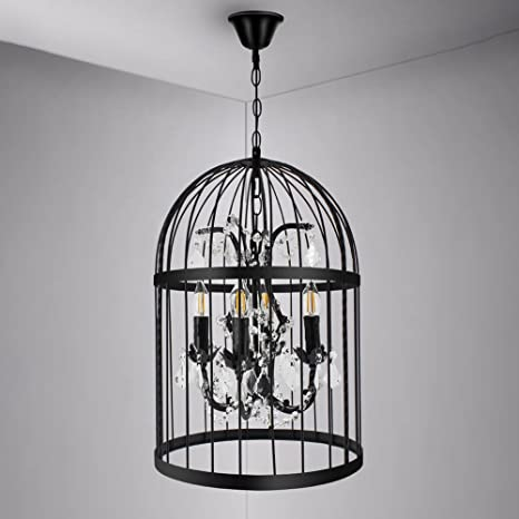 Ruanpu industrial 1378 4 lights pendant retro chandelier vintage ruanpu industrial 1378quot 4 lights pendant retro chandelier vintage ceiling light lamp bird cage shaped aloadofball Gallery