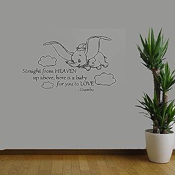 Wandaufkleber Baum Weiss Dumbo Zitat Direkt Vom Himmel Für