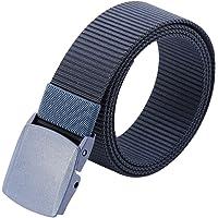 """3ZHIYI Plástico Hebilla Nylon Mens Cinturones De Estilo Militar Ligero 49,2 """" 53 """""""