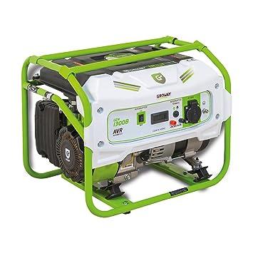 Groway GEN 1300B - Generador eléctrico a gasolina de 90 cc, 1300 W, 230 V, monofásico: Amazon.es: Jardín