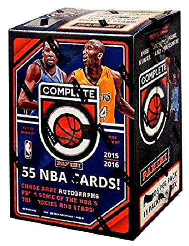 NBA 2015/16 Panini Complete Basketball Blaster Box Trading Cards, Small, Black ()