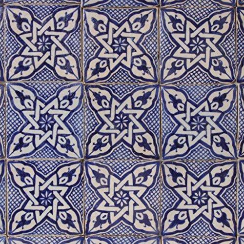 Casa Moro Marokkanische handbemalte Keramikfliese Daya 10 x 10 cm