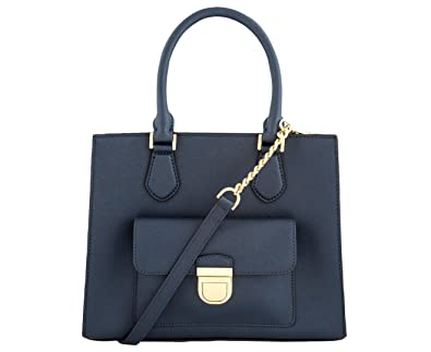 MICHAEL Michael Kors Women s Bridgette Medium Tote Leather Handbag (NAVY) a524134cf