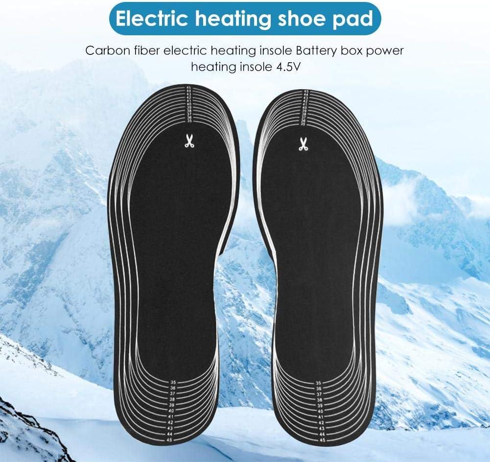 Slibrat Beheizte Schuhe Pads 1 Paar 4,5 V Batterie Elektrische Fu/ß Beheizt Schuh Boot W/ärmer Carbon Beheizte Einlegesohlen Mit Batteriekasten Vordere Sohle