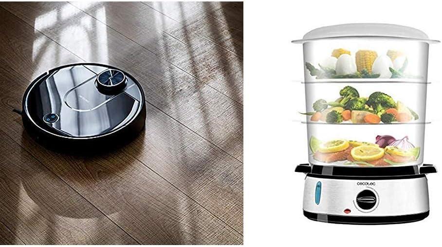 Cecotec Robot Aspirador Conga Serie 3690 Absolute + Vapovita 3000 Vaporera eléctrica INOX con 800 W: Amazon.es: Hogar