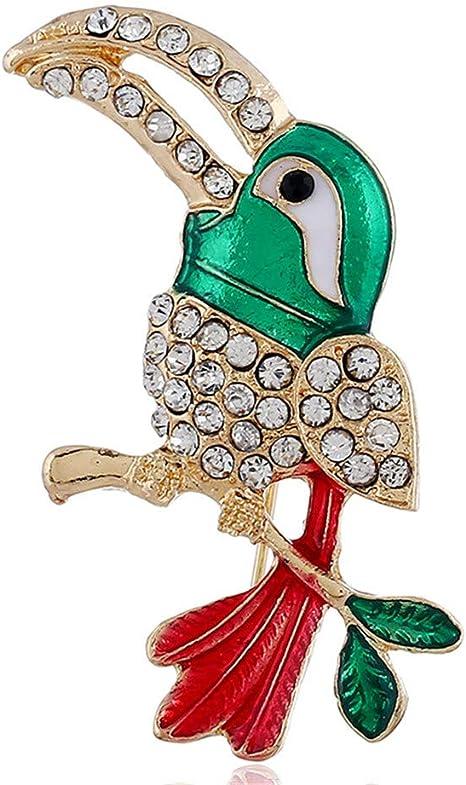 CuteLife Insignia de Disfraz de Broche de Cristal Serie de Navidad ...
