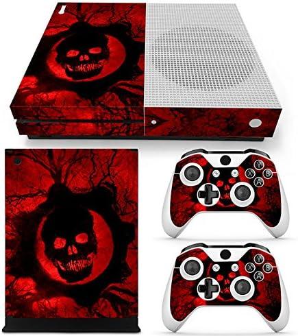 XBOX ONE S Skin Design Foils Pegatina Set - Red Skull Motivo ...