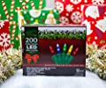 Stay Off the Roof Super Bright Multicolor LED Christmas Lights Set - Multicolored - 200-Piece - 55 ft Lighted Length, Connect up to 15 Sets - Holiday Mini Pack