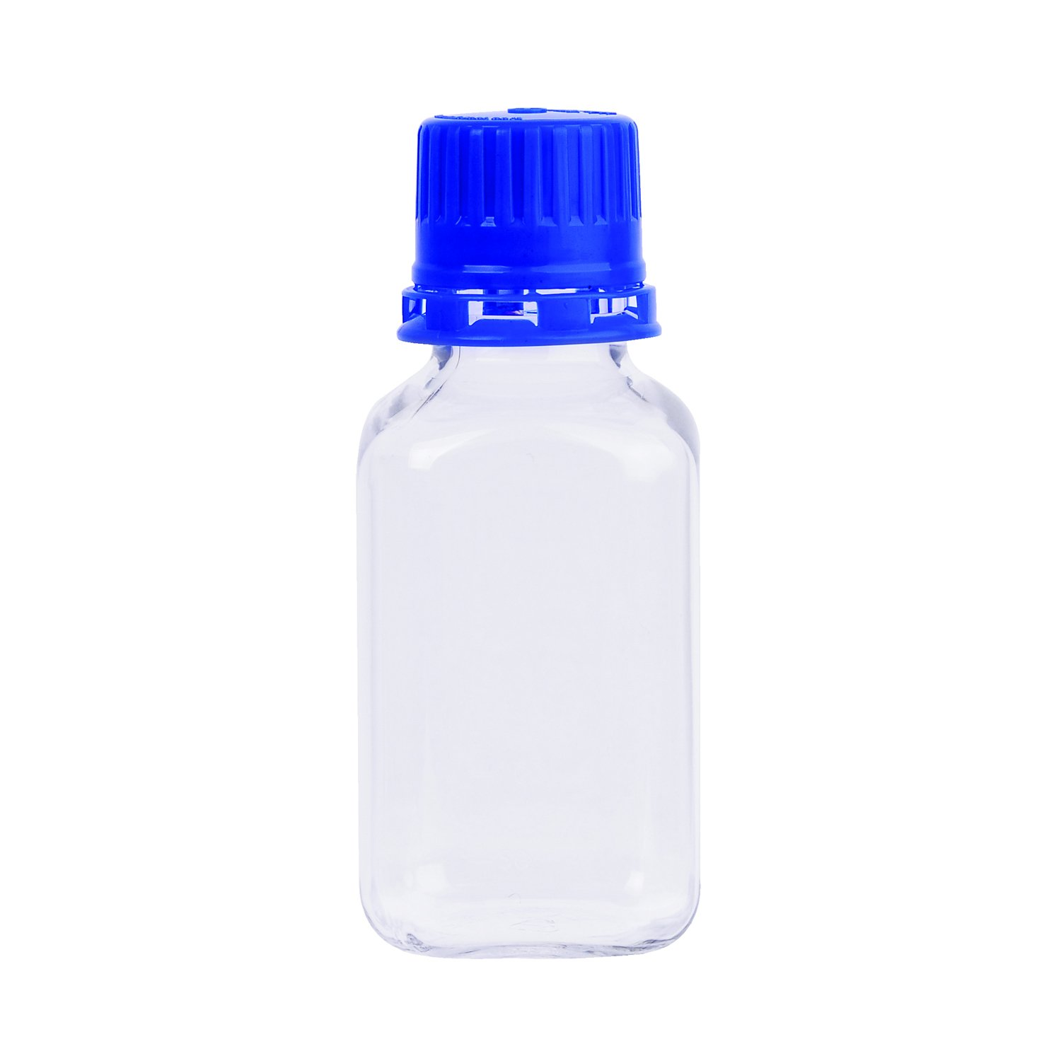 Wheaton WPBGC0250S Square Media Bottle with Tamper Evident Cap, PETG, 250 ml (Pack of 24)
