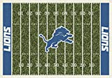 Detroit Lions NFL Team Home Field Area Rug by Milliken, 7'8'' x 10'9'', Multicolored