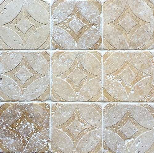 Tuscany walnut tumbled travertine tile for Travertine accent tile