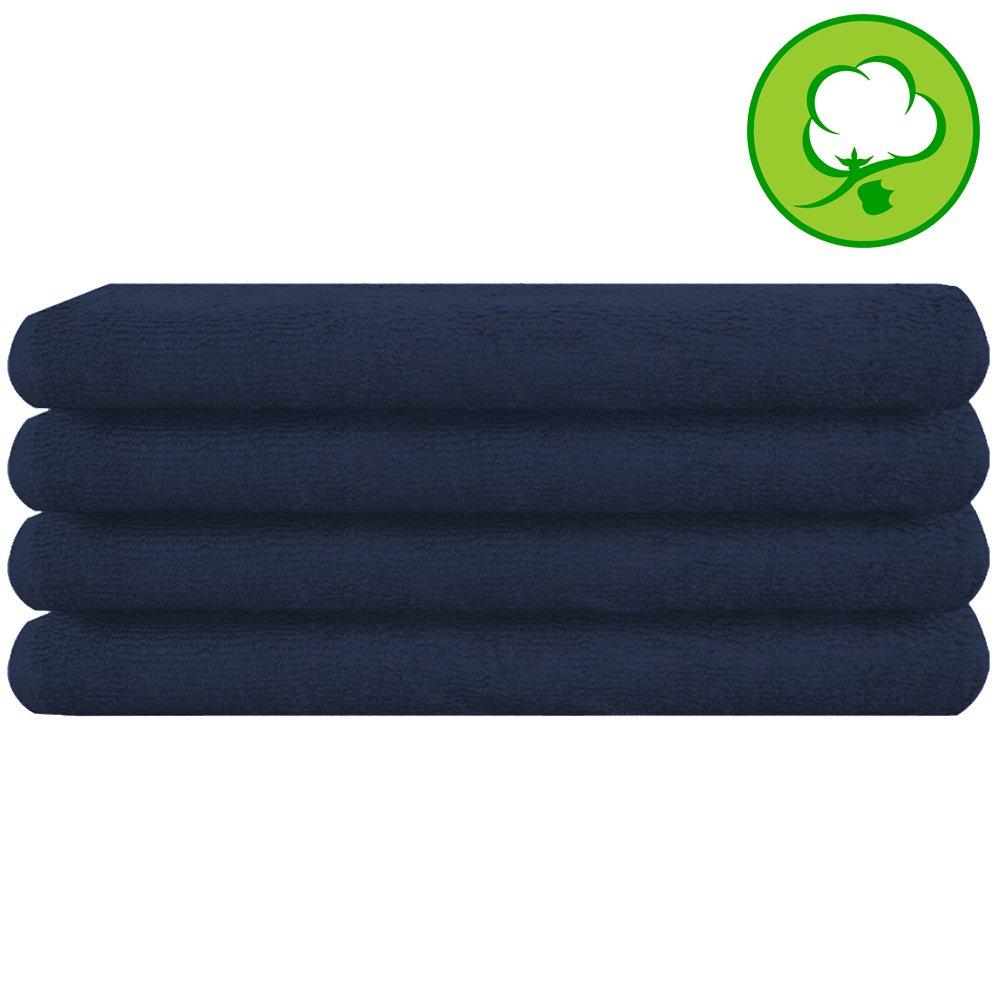 Navy Blue Salon Towel 100% Cotton 16''x27''. Hand Towel - 6 DOZEN (72 pack) by A&H (Image #2)