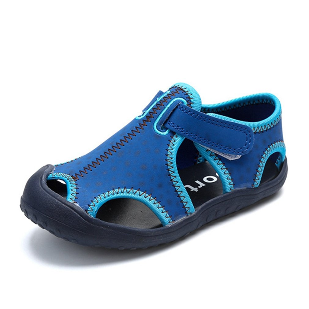 CYBLING Kids Beach Sandals Outdoor Closed-Toe Water Shoes for Boys and Girls (Toddler/Little Kid)