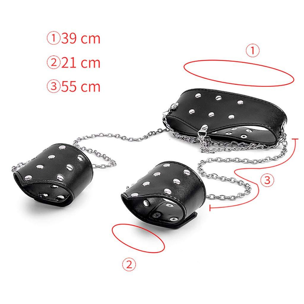 D-PP-sex toys4,sm,bondage set,juguetes sexuales adultos Productos para adultos sexuales - Collar Collar - Parejas - Coquetear - Juguetes alternativos - Sexy siamés - Collar esposas 802405