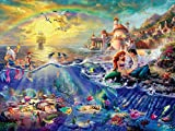 Ceaco 750 Piece Thomas Kinkade Disney Collection - The Little Mermaid Jigsaw Puzzle, Kids and Adults