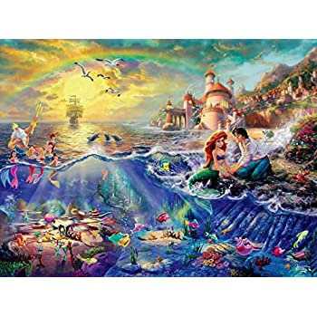 Ceaco Thomas Kinkade The Disney Dreams Collection The Little Mermaid 750 pc. Jigsaw Puzzle